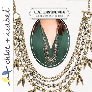 🆕 Aventine Convertible Necklace c+i N382